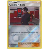 Giovanni's Exile 57/68 SM Hidden Fates Reverse Holo Uncommon Trainer Pokemon Card NEAR MINT TCG