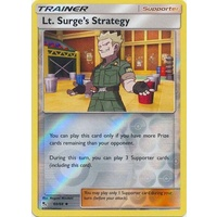 Lt. Surge's Strategy 60/68 SM Hidden Fates Reverse Holo Uncommon Trainer Pokemon Card NEAR MINT TCG