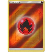 Fire Energy SM Hidden Fates Reverse Holo Pokemon Card NEAR MINT TCG