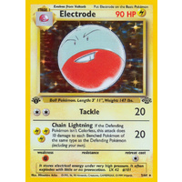 Electrode 2/64 Jungle Set 1st Edition Holo Rare Pokemon Card NEAR MINT TCG