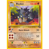 Rhydon 45/64 Jungle Set 1st Edition Uncommon Pokemon Card NEAR MINT TCG
