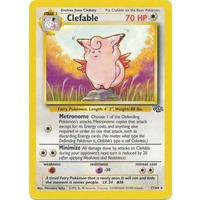 LIGHTLY PLAYED Clefable 17/64 Jungle Set Unlimited Rare Pokemon Card TCG