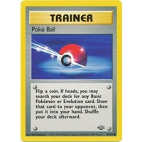 Poke Ball 64/64 Jungle Set Unlimited Common Trainer Pokemon Card NEAR MINT TCG
