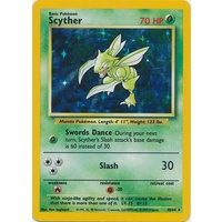 Scyther 10/64 Jungle Set No Set Symbol Misprint Unlimited Holo Rare Pokemon Card NEAR MINT TCG