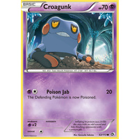 Croagunk 62/113 BW Legendary Treasures Common Pokemon Card NEAR MINT TCG