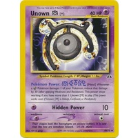 Unown M 49/75 Neo Discovery Unlimited Uncommon Pokemon Card NEAR MINT TCG