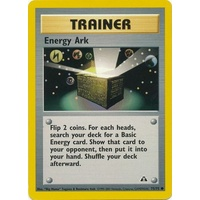 Energy Ark 75/75 Neo Discovery Unlimited Common Trainer Pokemon Card NEAR MINT TCG