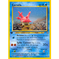 Corsola 37/75 Neo Discovery 1st Edition Uncommon Pokemon Card NEAR MINT TCG