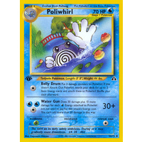 Poliwhirl 44/75 Neo Discovery 1st Edition Uncommon Pokemon Card NEAR MINT TCG