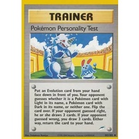 Pokemon Personality Test 102/105 Neo Destiny Unlimited Uncommon Trainer Pokemon Card NEAR MINT TCG
