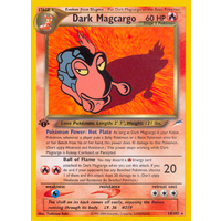 Dark Magcargo 18/105 Neo Destiny 1st Edition Rare Pokemon Card NEAR MINT TCG