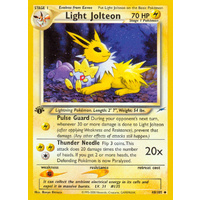 Light Jolteon 48/105 Neo Destiny 1st Edition Uncommon Pokemon Card NEAR MINT TCG