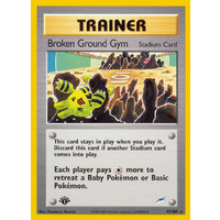 Broken Ground Gym 92/105 Neo Destiny 1st Edition Rare Trainer Pokemon Card NEAR MINT TCG