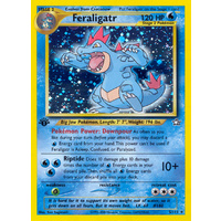 Feraligatr 5/111 Neo Genesis 1st Edition Holo Rare Pokemon Card NEAR MINT TCG