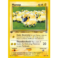 Mareep 65/111 Neo Genesis 1st Edition Common Pokemon Card NEAR MINT TCG