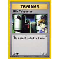 Bill's Teleporter 91/111 Neo Genesis 1st Edition Uncommon Trainer Pokemon Card NEAR MINT TCG