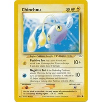 Chinchou 42/64 Neo Revelation Unlimited Common Pokemon Card NEAR MINT TCG