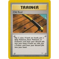 Old Rod 64/64 Neo Revelation Unlimited Common Trainer Pokemon Card NEAR MINT TCG