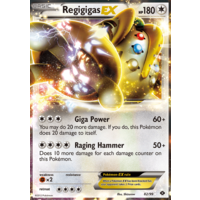 Regigigas EX 82/99 BW Next Destinies Holo Ultra Rare Pokemon Card NEAR MINT TCG