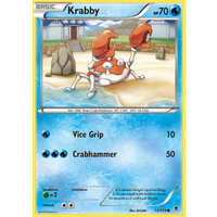 Krabby 13/119 XY Phantom Forces Common Pokemon Card NEAR MINT TCG