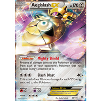 Aegislash EX 65/119 XY Phantom Forces Holo Ultra Rare Pokemon Card NEAR MINT TCG
