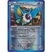 Chatot 77/101 BW Plasma Blast Reverse Holo Uncommon Pokemon Card NEAR MINT TCG