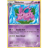 Nidorino 44/116 BW Plasma Freeze Uncommon Pokemon Card NEAR MINT TCG
