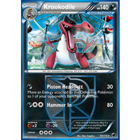 Krookodile 70/116 BW Plasma Freeze Rare Pokemon Card NEAR MINT TCG