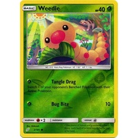 Weedle 2/181 SM Team Up Reverse Holo Common Pokemon Card NEAR MINT TCG