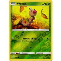 Weedle 3/181 SM Team Up Reverse Holo Common Pokemon Card NEAR MINT TCG