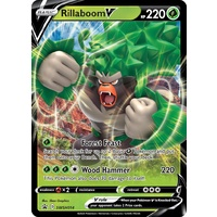 Rillaboom V SWSH014 Black Star Promo Pokemon Card NEAR MINT TCG