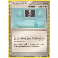 Glacia's Stadium 76/108 EX Power Keepers Uncommon Trainer Pokemon Card NEAR MINT TCG