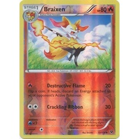 Braixen 12/124 XY Fates Collide Reverse Holo Uncommon Pokemon Card NEAR MINT TCG