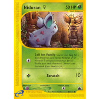 Nidoran 81/144 E-Series Skyridge Common Pokemon Card NEAR MINT TCG