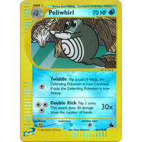 Poliwhirl 88/144 E-Series Skyridge Reverse Holo Common Pokemon Card NEAR MINT TCG