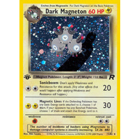 Dark Magneton 11/82 Team Rocket 1st Edition Holo Rare Pokemon Card NEAR MINT TCG