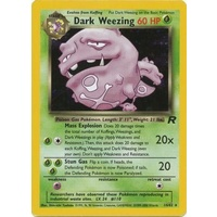 Dark Weezing 14/82 Team Rocket Unlimited Holo Rare Pokemon Card NEAR MINT TCG