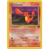 Charmander 50/82 Team Rocket Unlimited Common Pokemon Card NEAR MINT TCG