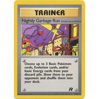 Nightly Garbage Run 77/82 Team Rocket Unlimited Uncommon Trainer Pokemon Card NEAR MINT TCG