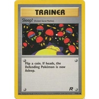 Sleep! 79/82 Team Rocket Unlimited Common Trainer Pokemon Card NEAR MINT TCG