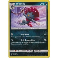 Weavile 74/156 SM Ultra Prism Reverse Holo Rare Pokemon Card NEAR MINT TCG