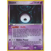 Unown V V/28 EX Unseen Forces Unown Collection Holo Rare Pokemon Card NEAR MINT TCG