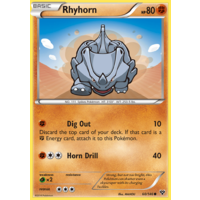 Rhyhorn 60/146 XY Base Set Common Pokemon Card NEAR MINT TCG