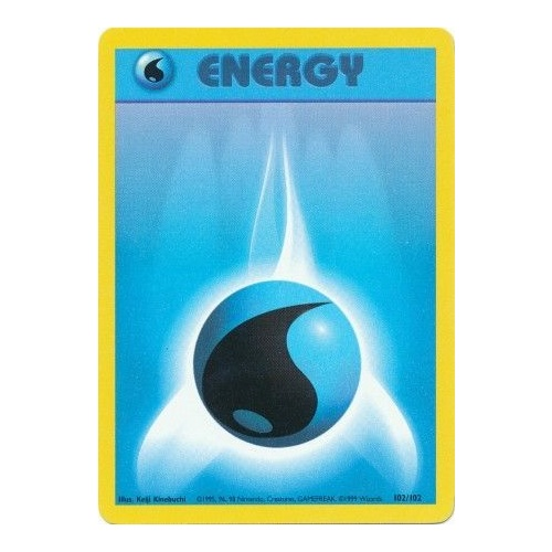 Water Energy 102/102 Base Set Unlimited Common Pokemon Card NEAR MINT TCG