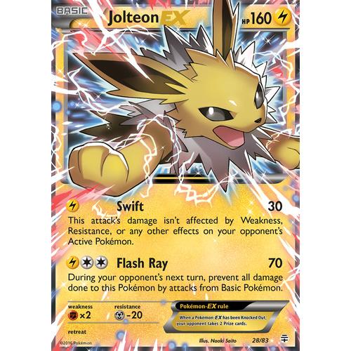28//83 Near Mint Pokemon Jolteon-EX Ultra Rare Generations