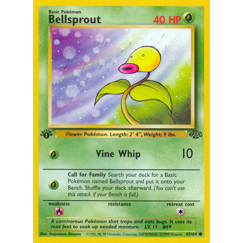 Bellsprout 49/64 Jungle Set 1st Edition Common Pokemon Card NEAR MINT TCG
