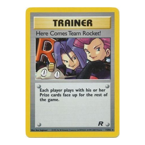 Here Comes Team Rocket 15/82 Team Rocket Unlimited Holo Rare Pokemon Card NEAR MINT TCG