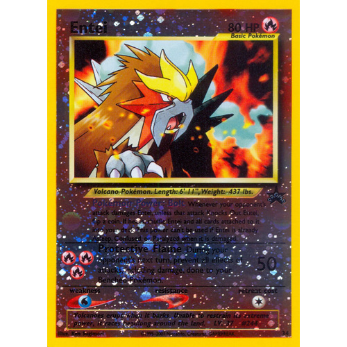 Entei #34 WOTC Reverse Holo Black Star Promo Pokemon Card NEAR MINT TCG